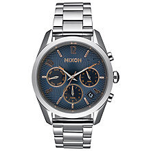 Buy Nixon A949-2195 Women's Bullet Chrono Chronograph Day Date Bracelet Strap Watch, Silver/Blue Online at johnlewis.com