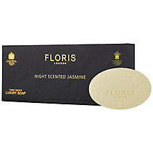 Buy Floris Night Scented Jasmine 3x Soap Gift Set Online at johnlewis.com