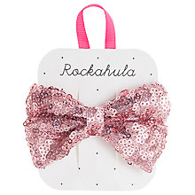 Buy Rockahula Sequin Bow Barrette, Pink Online at johnlewis.com