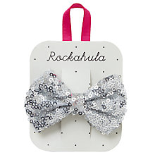 Buy Rockahula Girls' Sequin Bow Barrette, Silver Online at johnlewis.com