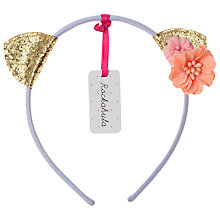 Buy Rockahula Girls' Glitter Cat Headband, Blue/Gold Online at johnlewis.com
