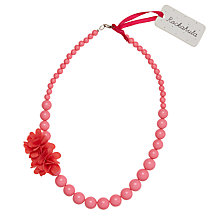 Buy Rockahula Girls' Pom Pom Flower Necklace, Pink Online at johnlewis.com