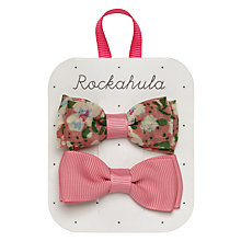 Buy Rockahula Vintage Bow Hair Clips, Pack of 2, Pink Online at johnlewis.com