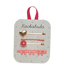 Buy Rockahula Girls' Heart and Daisy Hair Slides, Pack of 4 Online at johnlewis.com
