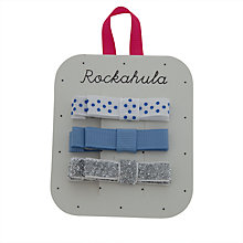 Buy Rockahula Girls' Grosgrain Bow Clips, Pack of 3, Blue Online at johnlewis.com