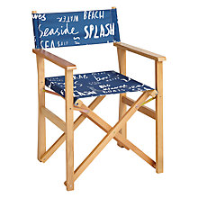 Buy John Lewis Blue Script Directors Chair Online at johnlewis.com