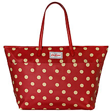 Buy Cath Kidston Large Trimmed Tote, Berry Online at johnlewis.com