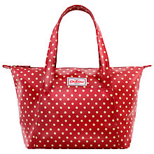 Buy Cath Kidston Small Zip Pocket Handbag, Berry Spot Online at johnlewis.com