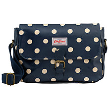 Buy Cath Kidston Small Saddle Bag, Navy Spot Online at johnlewis.com