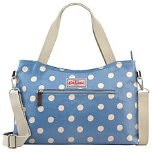 Buy Cath Kidston Zipped Detail Small Zipped Handbag, Denim Online at johnlewis.com