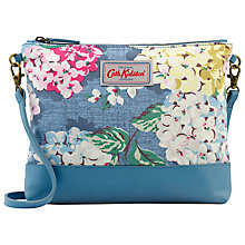 Buy Cath Kidston Small Hydrangea Cotton Across Body Bag, Blue Online at johnlewis.com