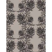 Buy Timorous Beasties Thistle Wallpaper, Black / Stone Online at johnlewis.com