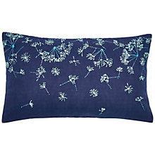 Buy Clarissa Hulse Clover Stripe Cushion, Blue Online at johnlewis.com