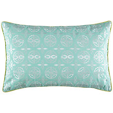 Buy Kas Suzie Cushion, Turquoiuse Online at johnlewis.com