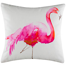 Buy Kas Flamingo Cushion, Hot Pink Online at johnlewis.com
