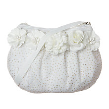 Buy Rockahula Girls' Tallulah Floral Bag, White/Gold Online at johnlewis.com