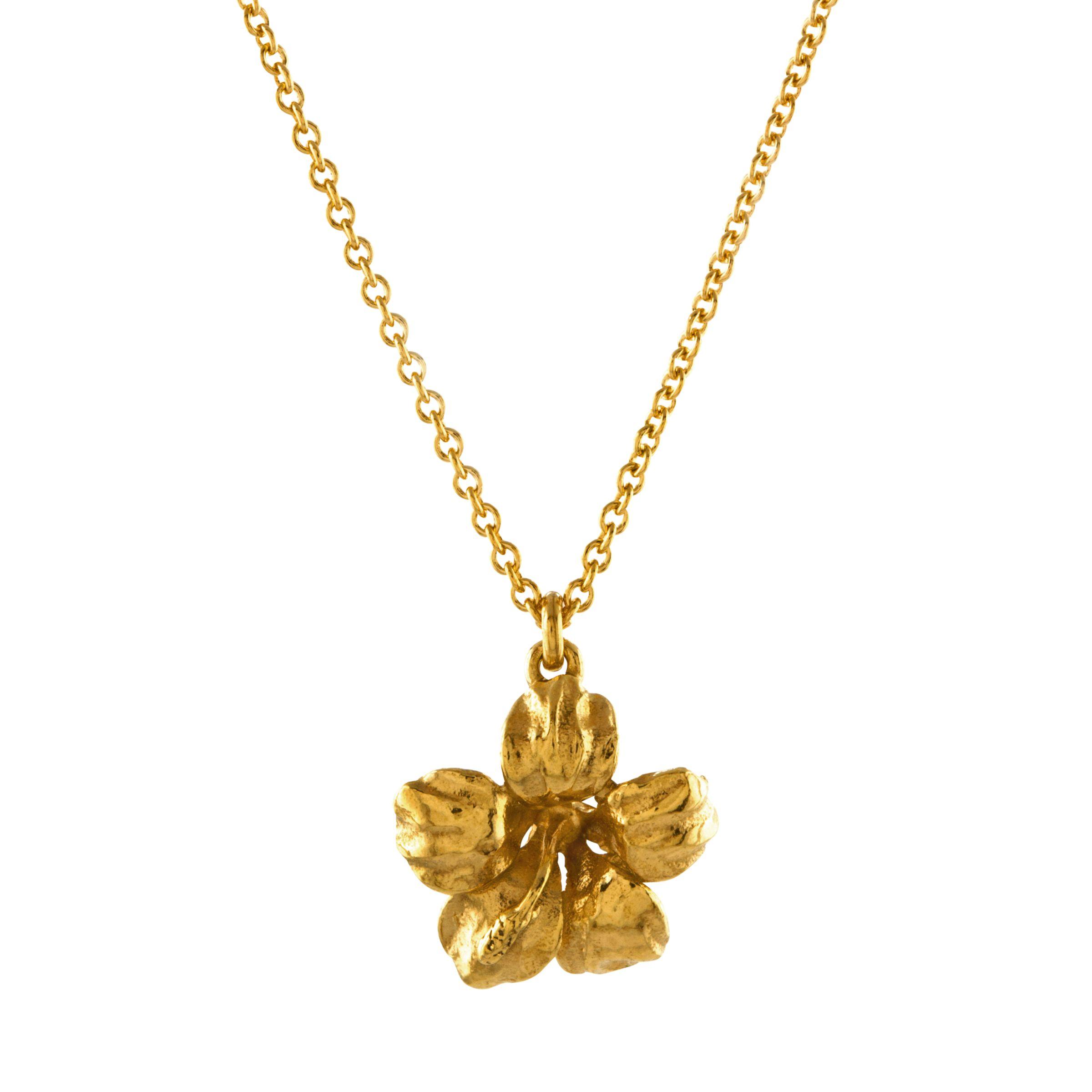 Alex Monroe Alex Monroe Single Flower Pendant Necklace, Gold