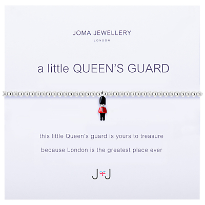 Joma A Little Queen's Guard Enamel Charm Bracelet, Silver/Multi