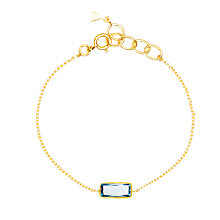 Buy Auren 18ct Gold Plated Sterling Silver Baguette Topaz Bracelet, Gold/Blue Online at johnlewis.com