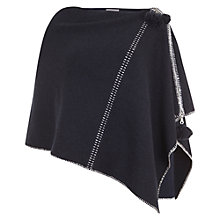 Buy Mint Velvet Blanket Stitch Poncho, Navy Online at johnlewis.com