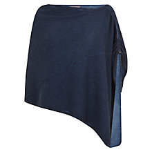 Buy Mint Velvet Ruched Poncho, Blue Indigo Online at johnlewis.com