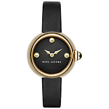 Buy Marc Jacobs MJ1432 Women's Courtney Leather Strap Watch, Black Online at johnlewis.com