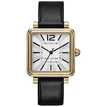 Buy Marc Jacobs MJ1437 Women's Vic Leather Strap Watch, Black/White Online at johnlewis.com