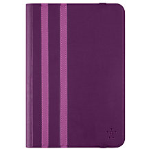 Buy Belkin Twin Stripe Folio for iPad Mini and Mini 2/3/4, Purple Online at johnlewis.com
