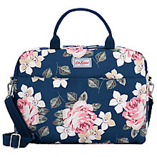 "Buy Cath Kidston Richmond Rose Bag for 13"" Laptop, Navy Online at johnlewis.com"