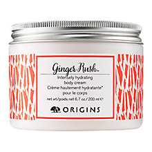 Buy Origins Ginger Rush Intensely Hydrating Body Cream, 200ml Online at johnlewis.com