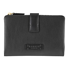 Buy Radley Tetbury Medium Leather Tab Purse, Black Online at johnlewis.com