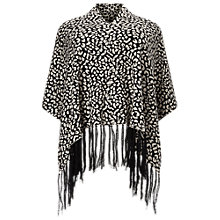 Buy Windsmoor Animal Print Poncho, Navy/Multi Online at johnlewis.com