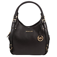 Buy MICHAEL Michael Kors Bedford Large Leather Tote Bag, Black Online at johnlewis.com