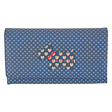 Buy Radley Love Radley Large Leather Flapover Purse, Navy Online at johnlewis.com