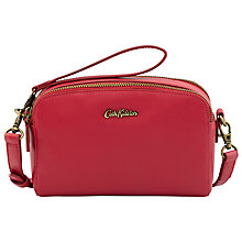 Buy Cath Kidston Mini Leather Double Zip Across Body Bag Online at johnlewis.com