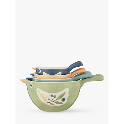 John Lewis Hazlemere Bird Measuring Cups, Set of 4