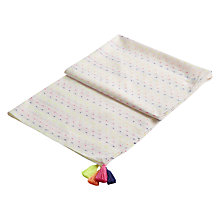 Buy Joules Carnival Long Line Foil Print Scarf, Cream/Multi Online at johnlewis.com