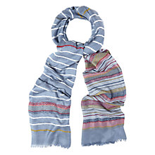 Buy White Stuff Aztec Jacquard Scarf, Blue/Multi Online at johnlewis.com