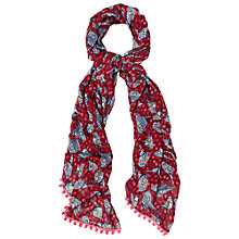 Buy White Stuff Nepalese Bird Print Scarf, Pink Online at johnlewis.com