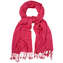 Buy White Stuff Textured Scarf, Festival Pink Online at johnlewis.com