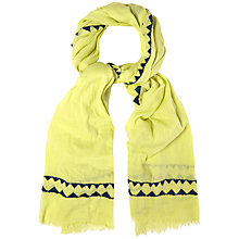 Buy White Stuff Nepalese Jacquard Scarf, Green Online at johnlewis.com
