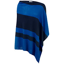 Buy Pure Collection Gassato Cashmere Asymmetric Poncho, Oxford Blue/Navy Online at johnlewis.com