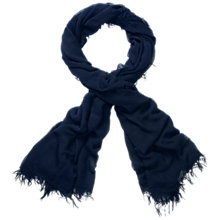 Buy Pure Collection Banister Ultra Soft Scarf, Navy Online at johnlewis.com