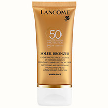 Buy Lancôme Soleil Bronzer Protective Face Cream SPF 50, 50ml Online at johnlewis.com