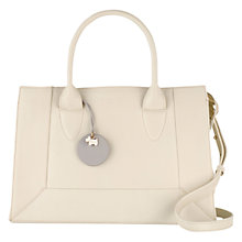 Buy Radley Border Small Leather Multiway Tote Bag, Ivory Online at johnlewis.com