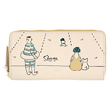 Buy Radley Collectibles Lido Large Leather Zip Purse, Ivory Online at johnlewis.com