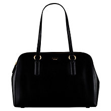 Buy Radley Bankside Large Leather Tote Bag, Black Online at johnlewis.com