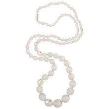 Buy Susan Caplan for John Lewis 1980s Silver Toned Graduated Glass Crystal Necklace, Aurora Borealis Online at johnlewis.com