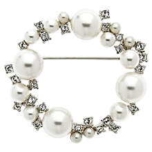 Buy Finesse Swarovski Crystal and Pearl Ring Brooch Online at johnlewis.com