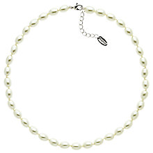 Buy Finesse Freshwater Pearl Graduated Necklace, White Online at johnlewis.com